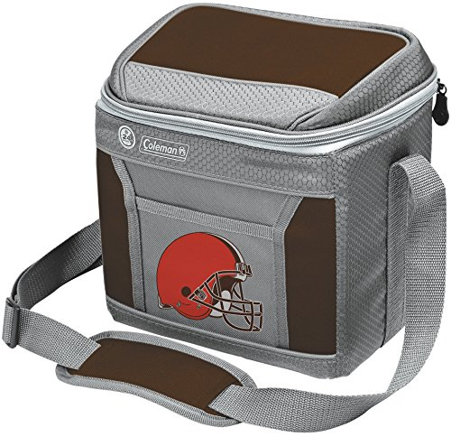 Coleman NFL Soft-Sided Insulated Cooler and Lunch Box Bag, 9-Can Capacity, Cleveland Browns