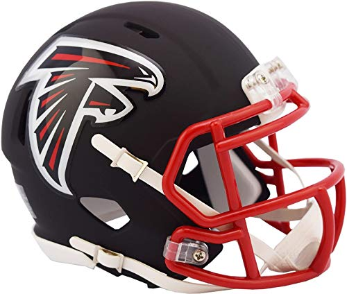 Atlanta Falcons NFL Black Matte Alternate Speed Mini Football Helmet