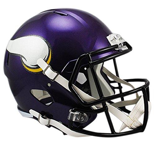 Riddell NFL Minnesota Vikings Full Size Replica Speed Helmet, Medium, Purple
