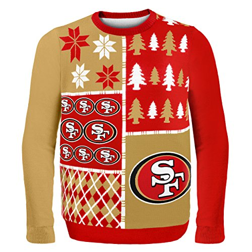 NFL San Francisco 49ers BUSY BLOCK Ugly Sweater, XX-Large