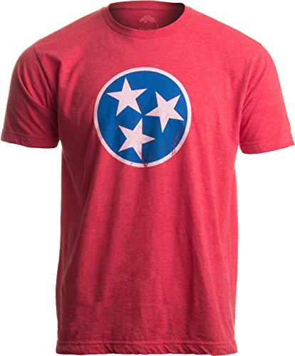 Tennessee Flag | Vintage Distressed Effect Tennesseean Volunteer State T-Shirt-(Adult,2XL)