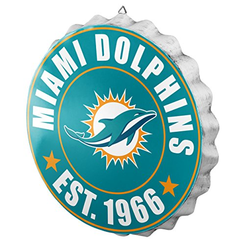 Miami Dolphins NFL Bottle Cap Wall Sign
