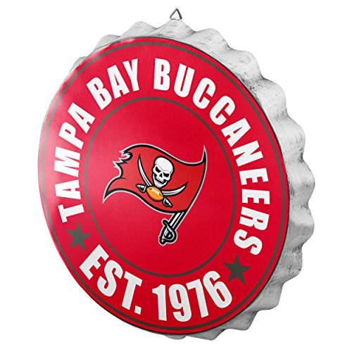 Tampa Bay Buccaneers NFL Bottle Cap Wall Sign