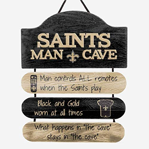FOCO New Orleans Saints NFL Mancave Team Logo Man Cave Hanging Wall Sign