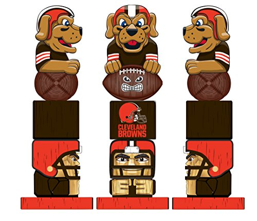 Team Sports America NFL Tiki Totems (16 Inches, Cleveland Browns)