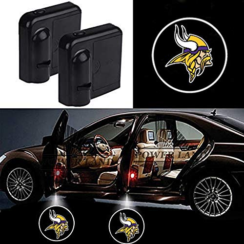 For Minnesota Vikings Car Door Led Welcome Laser Projector Car Door Courtesy Light Suitable Fit for all brands of cars