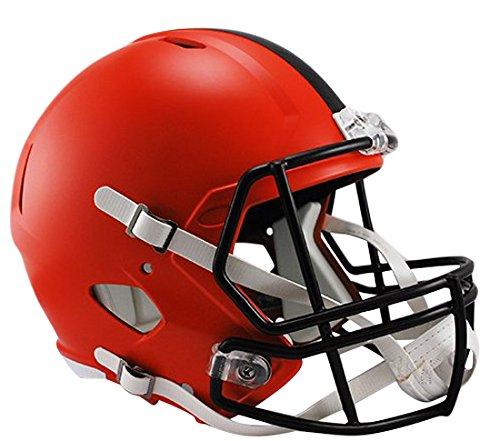 Riddell NFL Cleveland Browns Full Size Replica Speed Helmet, Medium, Orange