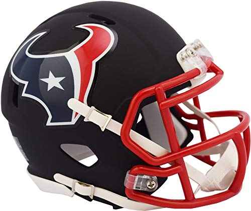 Riddell Houston Texans Black Matte Alternate Speed Mini Football Helmet - NFL Mini Helmets
