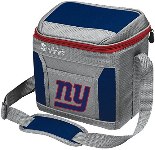 Coleman NFL Soft-Sided Insulated Cooler and Lunch Box Bag, 9-Can Capacity, New York Giants