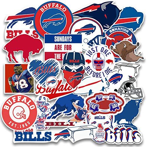 25 pcs Set of Buffalo Vinyl Bills Stickers Pack 2-2.5 inches