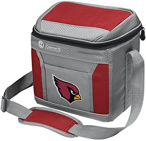 Coleman NFL Soft-Sided Insulated Cooler and Lunch Box Bag, 9-Can Capacity, Arizona Cardinals